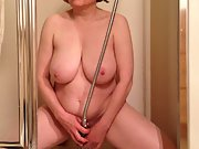 Marierocks milf gets off in the shower shooting water at clitoris