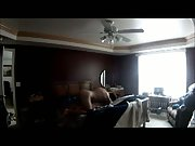 Sex in bedroom recorded on hidden camera on top of wardrobe