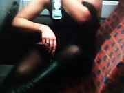 Mrs toodosex4u getting wild on teach and giving strangers a show