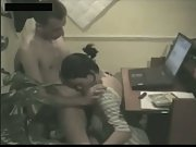 Webcam couple office orgy
