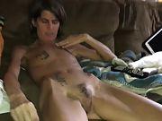 Bony wifey with hairy fuckbox undressing