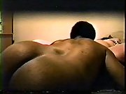 Round wife doing it with a ebony boy who has a fatter hard-on