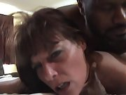 Slutty mature brunette gets her cunt slammed
