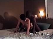 Bbc-loving milky whore fucking and sucking her lover's long ebony pillar as husband films