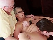 Senior mature couple first time swinging