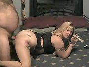 Curvy wife enjoying doggystyle fuck with her husband
