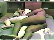 Hairy wifey enjoying an interracial threesome