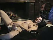 Tony shoots a load with her bang-out toy