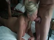 Watch a mature granny providing head to her stud