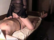 Supah kinky handjob and hard-on ride from the mrs at home in bed
