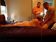 Stunning super hot wifey and husband in a 3 sum with her boy