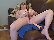 Lush redheaded mature and her wand part one