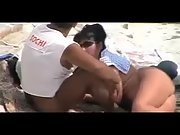 Bootie naked wifey gives her strong hubby a adorable blowjob at the local beach