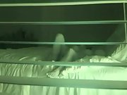 Spy cam thru blinds recording wife and hubby down and dirty