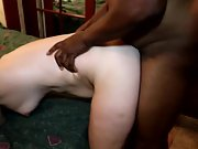 Xxx black on white for becky in black slutwife