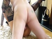 Scottish swinger wife first-timer hook-up video, fucked on floor