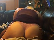 Blonde wife having mixed-race fuck-fest on home sofa